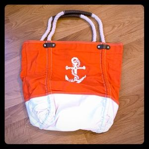 Like new! Canvas Anchor Tote bag. ⚓️⛵️